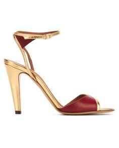 ddf976f5d975 Michel Vivien Bordeaux Leather Heeled Ankle Strap Sandals Bottes, Soulier,  Chaussure, Sandales Avec
