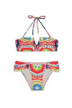 Mara Hoffman Pow Wow V-Wired Bikini, $130.80 (originally $218), available at Bona Drag. #refinery29 http://www.refinery29.com/cheap-bathing-suits#slide-11