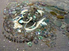 """Carol Walker, Melt (detail 2), 5.5x6.25"""", 1-2014 #fiber art #embroidery"""