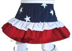 "Patriotic Ruffle Skirt fits 18"" American Girl Doll Clothes Sew Beautiful #DollClothesSewBeautiful"