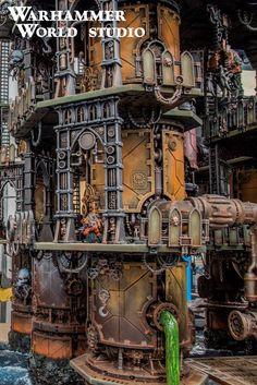 New Diorama! Ferro-Giant Alphus – Warhammer World Warhammer Terrain, 40k Terrain, Game Terrain, Wargaming Terrain, Figurine Warhammer, Warhammer 40k Miniatures, Tabletop, Miniaturas Warhammer 40k, Anime City