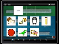 Assistive technology on iPad for autistic kids who find it hard to speak! Brilliant stuff!