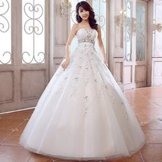 Love Weiyi luxury lace wedding dress 2014 new Korean Princess Bra straps Qi wedding dress