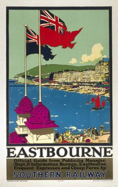 Eastbourne - Official Guide by National Railway Museum. Massive range of art prints, posters & canvases. Quality UK framing & Money Back Guarantee! Posters Uk, Train Posters, Railway Posters, Poster Prints, Art Prints, Modern Posters, Poster Pictures, Print Pictures, Brighton