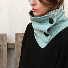 Minipicnic, handprinted Neck Warmer, Textile Design, Turtle Neck, Textiles, Sweaters, Jackets, Blue, Maya, Blue Nails