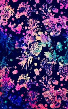 Colorful galaxy pineapples