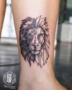 2017 trend Geometric Tattoo - Idée : Lion - Symétrie : poitrine / dos...