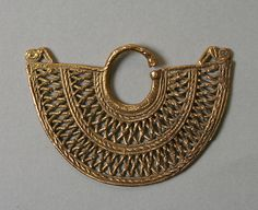 Ear Ornament.  Date:     10th–16th century. Geography:     Colombia. Culture:     Zenu. Medium:     Gold.