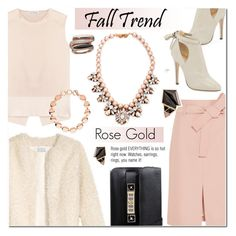 """Rose gold Trend"" by cly88 ❤ liked on Polyvore featuring Acne Studios, J.Crew, Jimmy Choo, Darya London, Proenza Schouler, Links of London, Nak Armstrong, Michael Kors, rosegold and fauxfur"