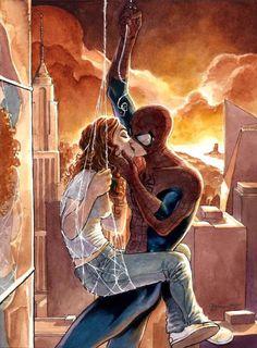 Daniel Govar Spiderman & Mary Jane Comic Art