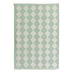 Liv Interior Cotton Diamond carpet  Pale green
