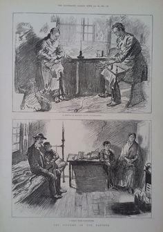 1891 PRINT SCENES OF THE DISTRESS IN THE EAST-END