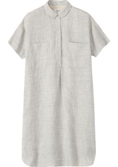 Women's Grey Linen Moriko Shirt Dress, Toast