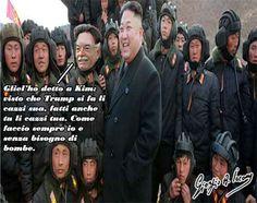 """Razzi e le tensioni Usa-Corea del Nord: che ognuno si facesse li cazzi sua Corea del Nord agli Usa: """"Siamo pronti a cancellarvi dalla faccia della Terra e ad affondare la vostra portarei"""".  Minacce, avvertimenti, lanci di missili, pagine sui giornali del regime. La Corea  #antoniorazzi #donaldtrump #kimjong-un"""