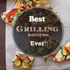 The Greatest Grilling Recipes Ever!! From steak to seafood and even dessert.  Vegetarian recipes too. There's a grilling recipe for everyone.