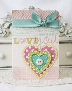 Love You Card by Melissa Phillips for Papertrey Ink (February 2013)