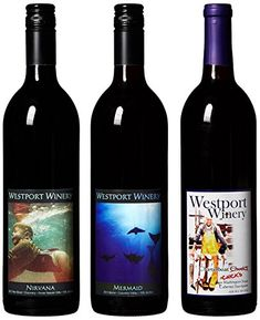 Westport Winery Washington Reds Cab Merlot  Red Blend Mixed Pack Benefits Charity 3 x 750 mL Red Wine -- You can get additional details at the image link.