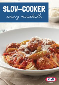 """Slow-Cooker Saucy Meatballs — One fan told us, """"This is my go-to recipe for spaghetti and meatballs!"""" What makes them so flavorful? A stretch in the slow-cooker with all that sauce."""