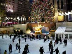 Rockefeller Ice Skating Rink located in New York City.