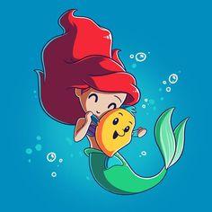 Bffs (ariel and flounder) t-shirt the little mermaid teeturtle Kawaii Disney, Ariel Disney, Disney Magic, Disney Amor, Disney Little Mermaids, The Little Mermaid, Little Mermaid Cartoon, Official Disney Princesses, Disney Princess Characters