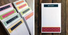 Personalized Bold Notepads | Jane