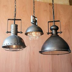 Large Metal Pendant with Cage Product Dimensions: x Industrial vintage style hanging pendant light fixture metal Farmhouse Pendant Lighting, Diy Pendant Light, Industrial Light Fixtures, Rustic Chandelier, Industrial Metal, Rustic Lighting, Pendant Light Fixtures, Industrial Lighting, Pendant Lamp