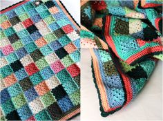 Granny Square blanket - make using the leftovers from other project, stockpile until there is enough for a blanket