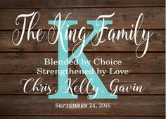 Custom Blended Family Name Sign Monogram - Rustic Inspired Wood Sign or Canvas…