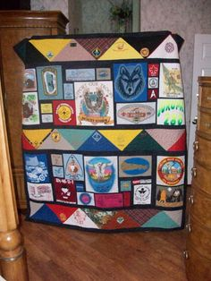 Terrific Eagle Quilted Wall Hanging - a great gift for the Eagle ... : boy scout quilt - Adamdwight.com