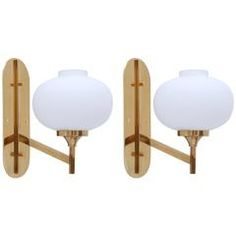 Opal Glass Sconces from Italy