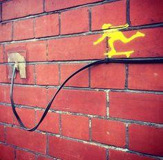 Distinctive by Float in London (LP) Urban Street Art, 3d Street Art, Amazing Street Art, Street Art Graffiti, Street Artists, Urban Art, Foto Art, Outdoor Art, Chalk Art