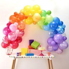 Rainbow Balloon Garland Kit - 85 Balloons Rainbow Balloon Arch, Balloon Arch Diy, Ballon Arch, Balloon Backdrop, Balloon Garland, Unicorn Balloon, Rainbow Unicorn, Rainbow Baby, Rainbow Party Decorations