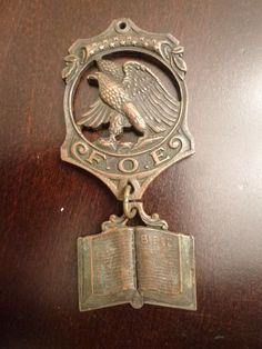 Antique Fraternal Order of Eagles FOE Medal RARE Chaplain Medal 1900 1920 Period   eBay