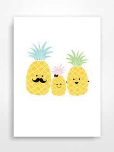 Affiche décorative * Ananas. Pineapple.