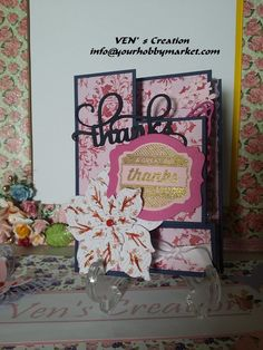 Thank you card  (Trifold Card)