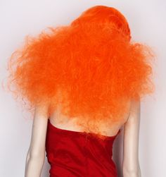 this is what my hair would look like if i had orange hair. Cheveux Oranges, Bright Hair, Hair Images, Love Hair, Mi Long, Hair Dos, Orange Color, Orange Red, Orange Fluff
