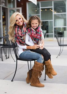 Mommy Perfect for Fall Oversized Blanket Scarf Brown