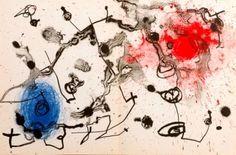 'Serie II,Bleu Et Rouge, 113/1200,1961' by Joan Miro.