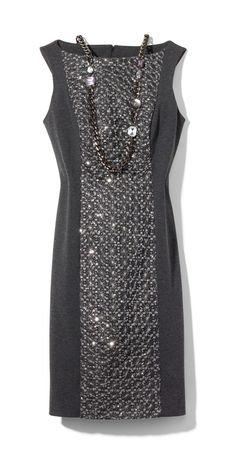 Sequin Panel Talia Dress #chicos #HolidayFeeling