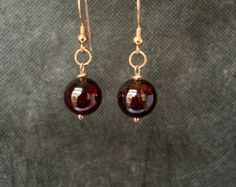 Garnet Pendant: January's Birthstone on Handcrafted by DixSterling