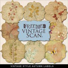 New Freebies Kit of Autumn Labels