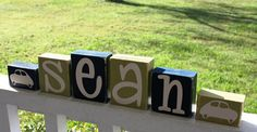 PERSONALIZED LETTER BLOCKS  Custom Name Baby Boy by kr112234
