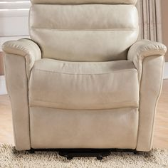 Ac Pacific Contemporary Faux Leather Upholstered Rail Power Reclining Lift Living Room Gaming Chair Cream Want Extra Informati In 2020 Power Recliners Recliner Chair
