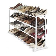 Shoe Organizer Storage Pair Rack Tier Durable Closet Shelf Cabinet Extra Space