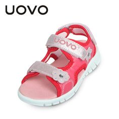 Happy Deal $9.93, Buy UOVO High Quality Baby Toddler Sandals Light Weight Sole Little Boys Girls Sandals Kids Sandals Two Straps Children Summer Shoes