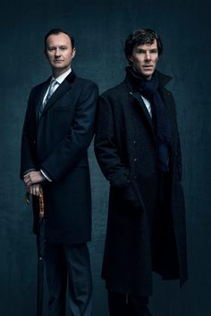 Mycroft & Sherlock - New S4 Promo still .. Aaaahh! The Holmes Brothers are back again.. Love it! <3 ..