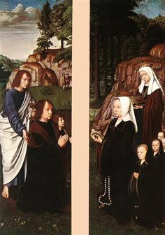 Triptych of Jean Des Trompes (side panels), 1505 - Gerard David