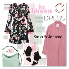"""new trend : bell-sleeve dresses"" by limass ❤ liked on Polyvore featuring Stila, MANGO, Loeffler Randall, Kate Spade and bellsleevedress"