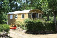 Roulotte au camping le lac à carnac en bretagne