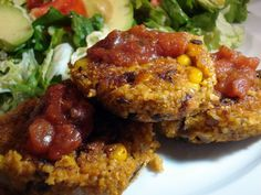 """Millet Black Bean Patties with Corn!  From """"Clean Food""""--> """"Clean Food is the most exciting book based on fresh produce and simple recipes I have used in years. –Mario Batali"""""""
